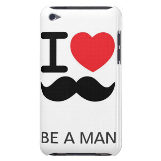 Only a real man can grow a mustach barely there iPod cover
