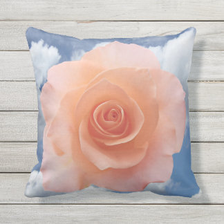 Only a Rose Blossom + your text & ideas Outdoor Pillow