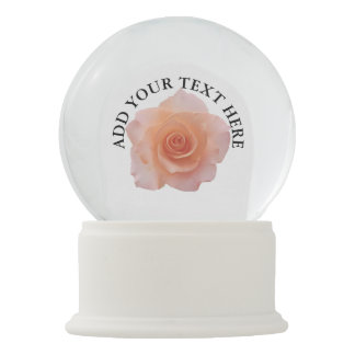 Only a Rose Blossom + your text & ideas Snow Globe