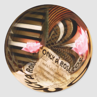 Only A Rose Classic Round Sticker