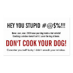 Only a Stupid Person Leaves a Dog in Hot Car Business Card Template