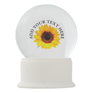 Only a Sunflower Blossom + your backgr. & ideas Snow Globe