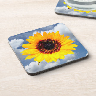 Only a Sunflower Blossom + your text & ideas Drink Coaster