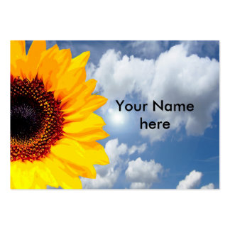 Only a Sunflower Blossom + your text & ideas Large Business Card