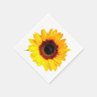 Only a Sunflower Blossom + your text & ideas Disposable Napkin