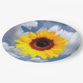 Only a Sunflower Blossom + your text & ideas Paper Plate