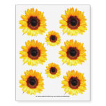 Only a Sunflower Blossom + your text & ideas Temporary Tattoos at Zazzle