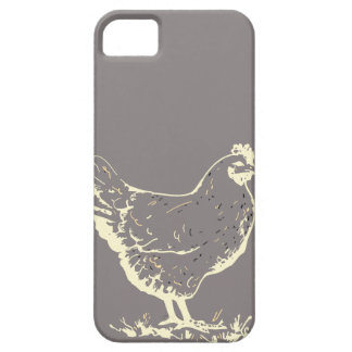 Only Aluminum gray chicken silhouette iPhone SE/5/5s Case