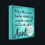 """Only an Aunt Canvas Wall Decor<br><div class=""""desc"""">Show your special Aunt how much she means with this beautiful wall hanging.</div>"""