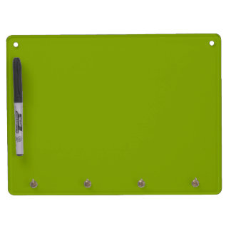 Only apple green cool rustic solid color OSCB43 Dry Erase Board With Keychain Holder