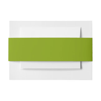Only apple green cool rustic solid color OSCB43 Invitation Belly Band