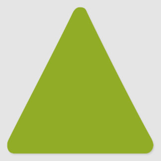 Only apple green cool solid color OSCB43 Triangle Sticker