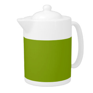 Only apple green cool solid color teapots