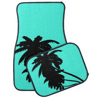 Only aqua blue pastel solid color car mat sets
