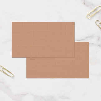 Only beige tan classy solid color business card