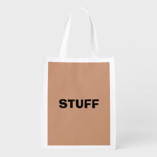 Only beige tan classy solid color grocery bag