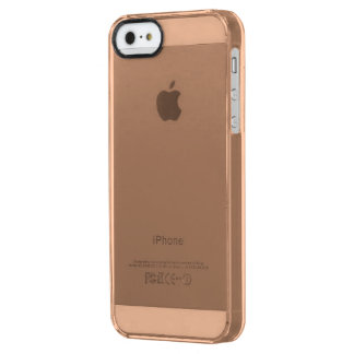 Only beige tan classy solid color OSCB38 Uncommon Clearly™ Deflector iPhone 5 Case