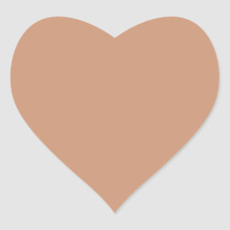 Only Beige Tan solid color Heart Stickers