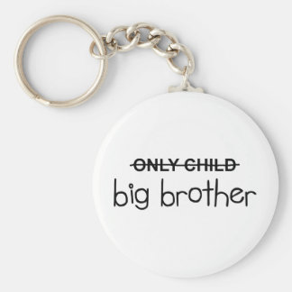 Only Big Brother Basic Round Button Keychain
