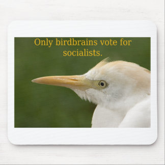 Only Birdbrains Vote for Socialists! Mouse Pad