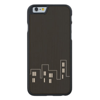 Only black cityscape Carved smartphone case Carved® Maple iPhone 6 Slim Case