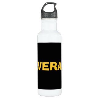 Only black cool solid color background stainless steel water bottle