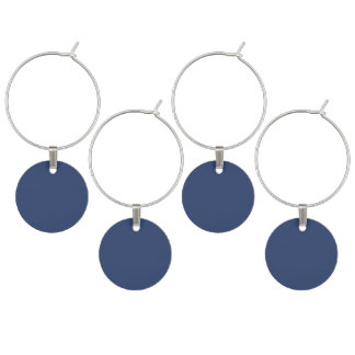 Only blue steel cool solid color OSCB36 Wine Glass Charm
