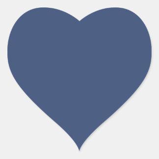 Only blue steel elegant solid color heart sticker