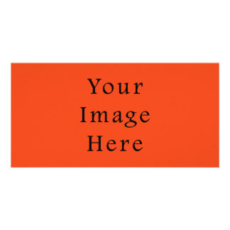 Only Bright Orange Color Trend Blank Template