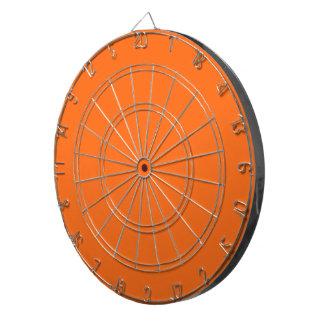 Only brilliant orange cool solid color background dartboards