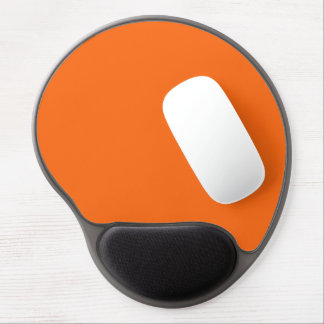 Only brilliant orange simple solid color gel mouse pad