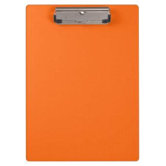 Only brilliant orange simple solid color OSCB25 Clipboard