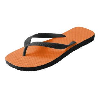 Only brilliant orange simple solid color OSCB25 Flip Flops