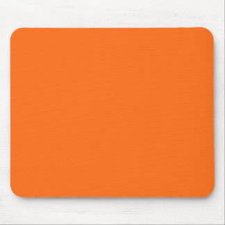 Only brilliant orange simple solid color OSCB25 Mouse Pad