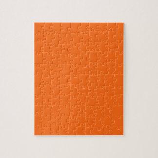 Only brilliant orange simple solid color puzzle