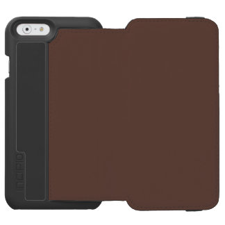 Only brown cocoa cool solid color OSCB37 iPhone 6/6s Wallet Case