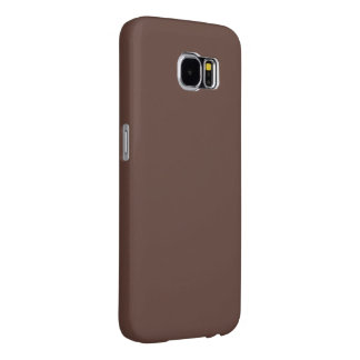 Only brown cocoa cool solid color OSCB37 Samsung Galaxy S6 Case