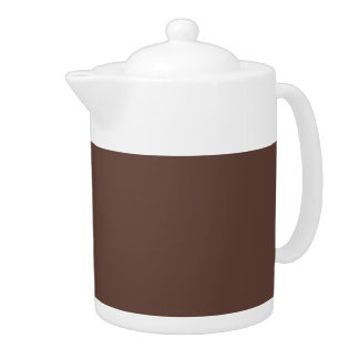 Only brown cocoa modern color customizable teapots