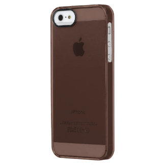 Only brown cocoa modern solid color OSCB37 Clear iPhone SE/5/5s Case