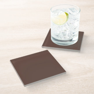 Only brown cocoa modern solid color OSCB37 coaster