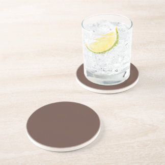 Only brown cocoa modern solid color OSCB37 Drink Coaster