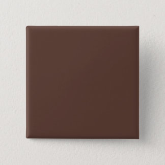 Only brown cocoa modern solid color pinback button