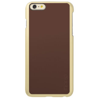 Only Brown cocoa solid color Incipio Feather® Shine iPhone 6 Plus Case