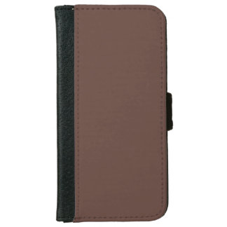 Only Brown cocoa solid color smartphone wallet iPhone 6 Wallet Case