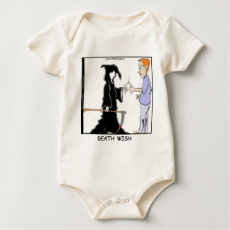 Only Chickens Fear The Reaper Funny Baby Bodysuit