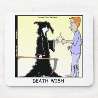 Only Chickens Fear The Reaper Funny Mouse Pad