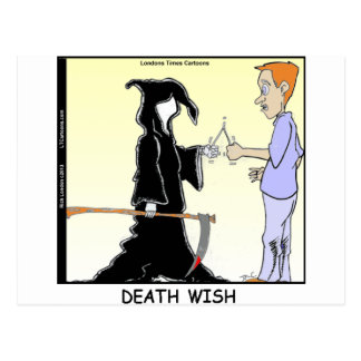 Only Chickens Fear The Reaper Funny Postcard