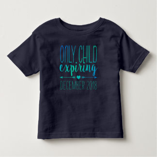 Only Child Expiring - Navy and Turquoise Ombre Toddler T-shirt