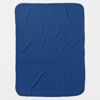 Only cobalt cool blue solid color background receiving blanket