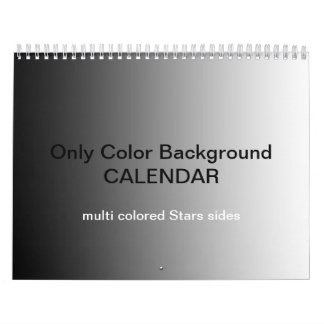 Only Color Backgr Calendar - multi colored stars